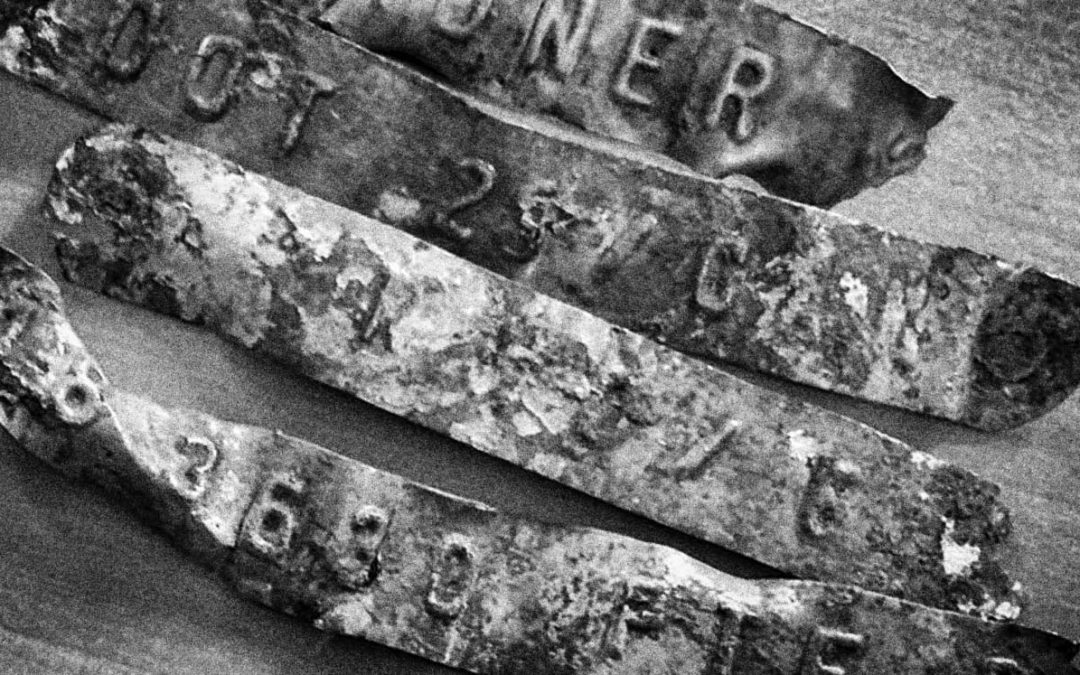 Fragments – The grave markers at Courcelette