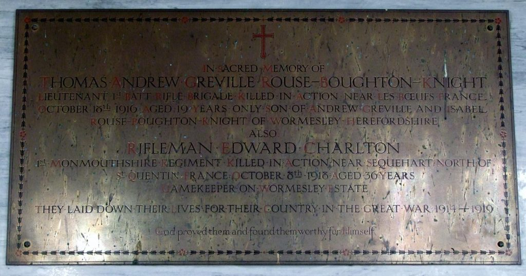wormsley-herefordshire-st-mary-wwi-memorial-thomas-andrew-greville-rouse-boughton-knight