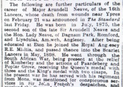 Llanwenllwyfo_Neave Arundell major obituary